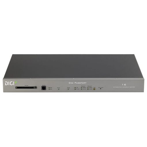 Digi Passport 16 Integrated Console Server w/ freeKVM & internal modem (16 RJ-45 serial ports)