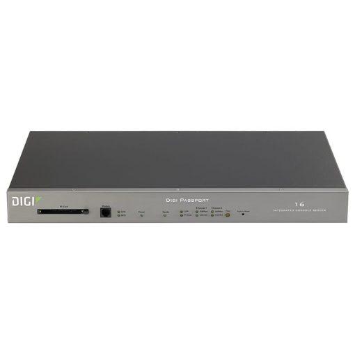 Digi Passport 16 Integrated Console Server w/ freeKVM & dual power (16 RJ-45 serial ports)