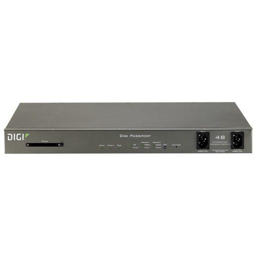Digi Passport 48 Integrated Console Server w/ freeKVM & dual power (48 RJ-45 serial ports)