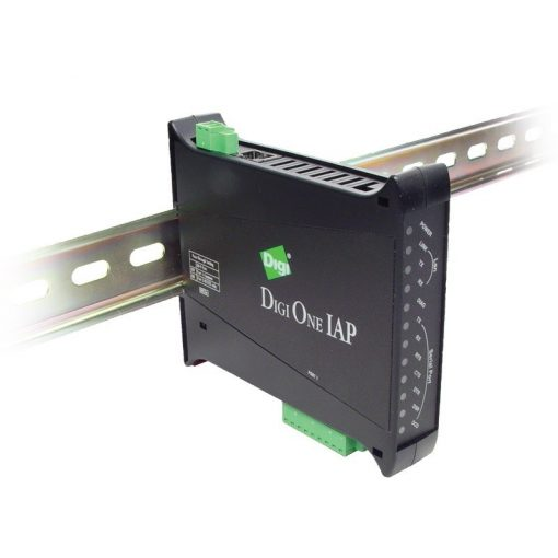 Digi One IAP Haz 2 port RS-232/422/485 DIN Rail Mounted Serial to Ethernet Industrial Protocol Converter (w/ extended temp)