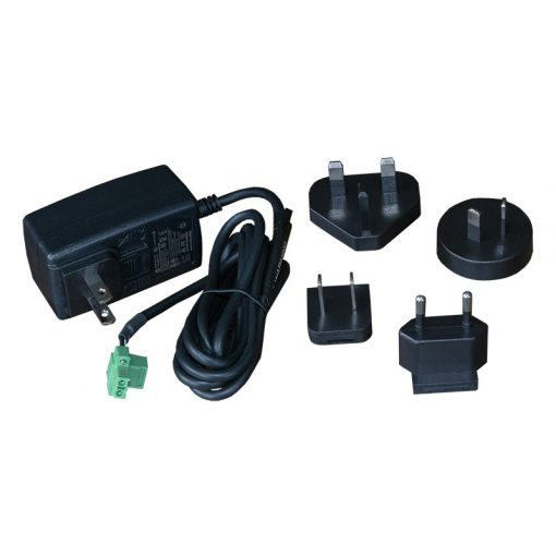 PSU 18VDC 1A Wallmount Level VI, Ind. temp, Changeable plugtips for US, UK, EU, AU; 2pin Combicon screw terminal plug; Suitable for IX10 and IX20 Supersedes SKU 24000155