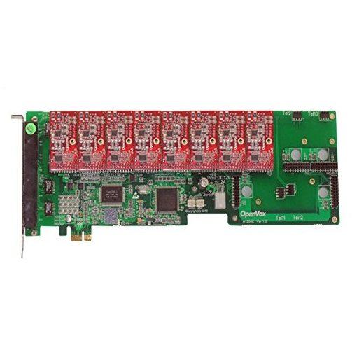 12 Port Analog PCI-E card + 8 FXO modules