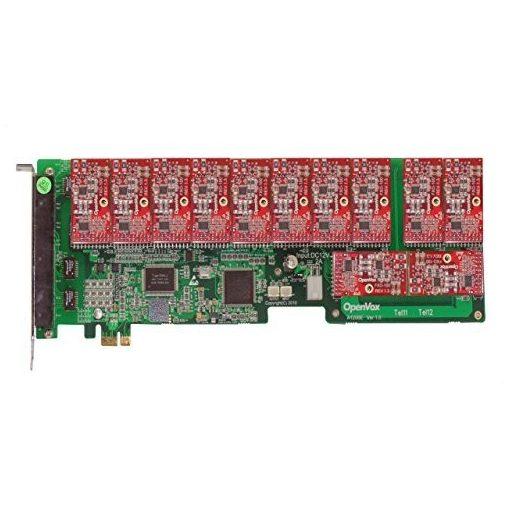 12 Port Analog PCI-E card + 12 FXO modules