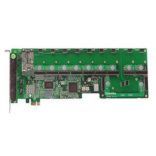 12 Port Analog PCI-E card + 1 FXS module