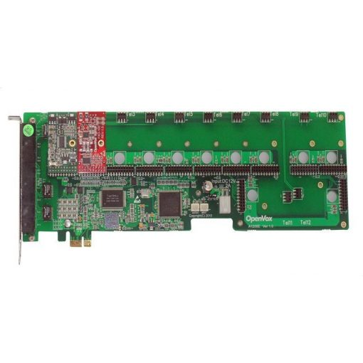 12 Port Analog PCI-E card + 1 FXS + 1 FXO modules