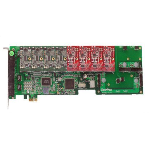 12 Port Analog PCI-E card + 4 FXS + 4 FXO modules