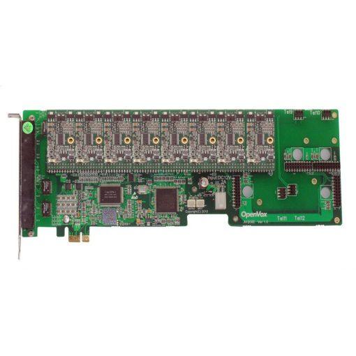 12 Port Analog PCI-E card + 8 FXS modules