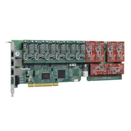 12 Port Analog PCI card + 1 FXO module