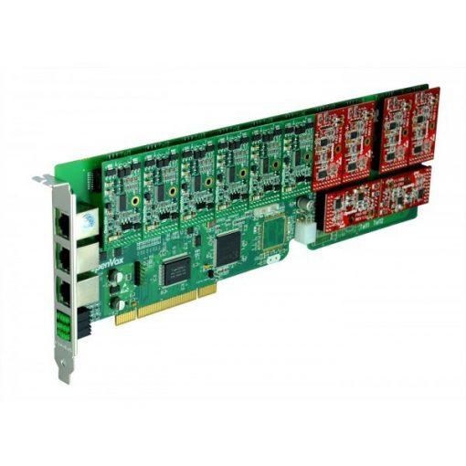 12 Port Analog PCI card + 12 FXS modules