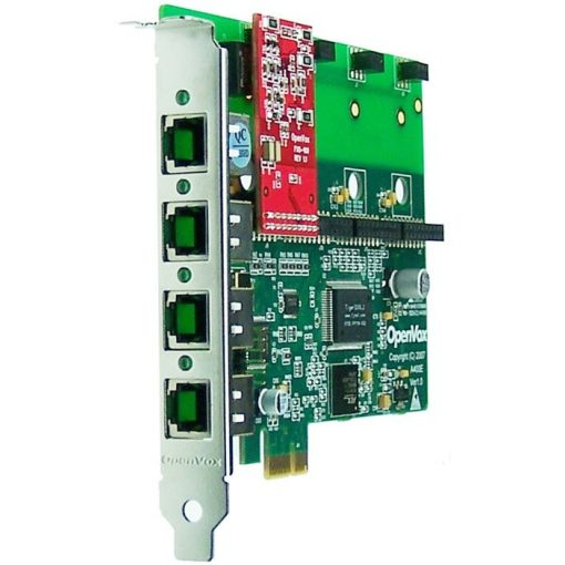 4 Port Analog PCI-E card + 1 FXO module