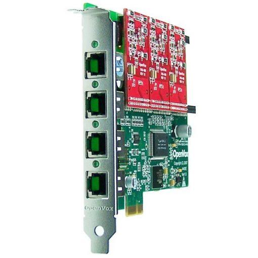 4 Port Analog PCI-E card + 3 FXO modules