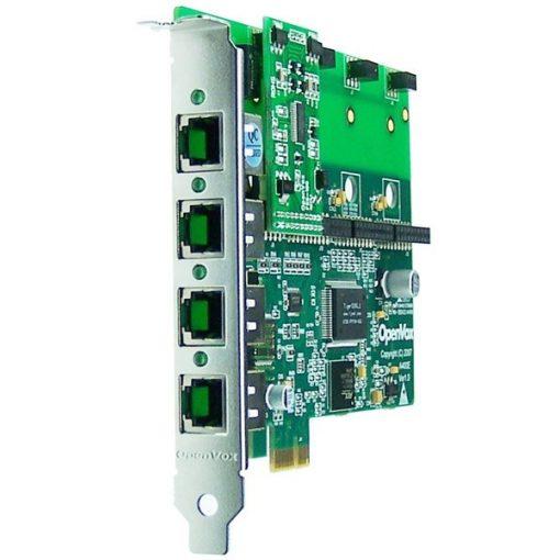 4 Port Analog PCI-E card + 1 FXS module