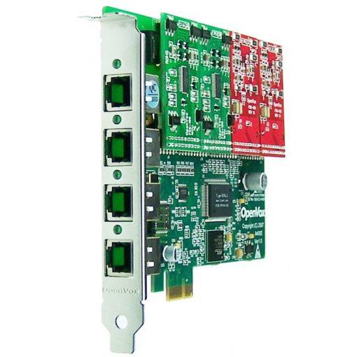 4 Port Analog PCI-E card + 2 FXS + 2 FXO modules