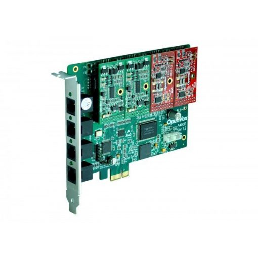 4 Port Analog PCI-E card + 3 FXS + 1 FXO modules
