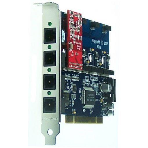 4 Port Analog PCI card + 1 FXO module