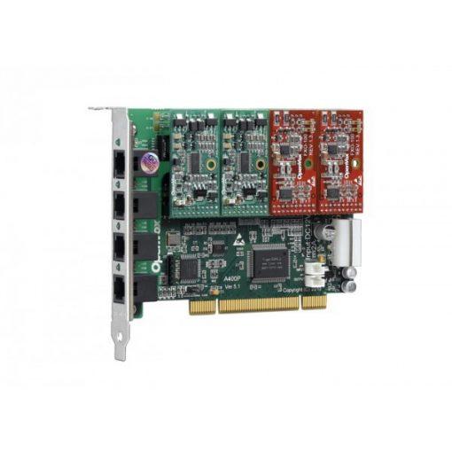 4 Port Analog PCI card + 2 FXO modules