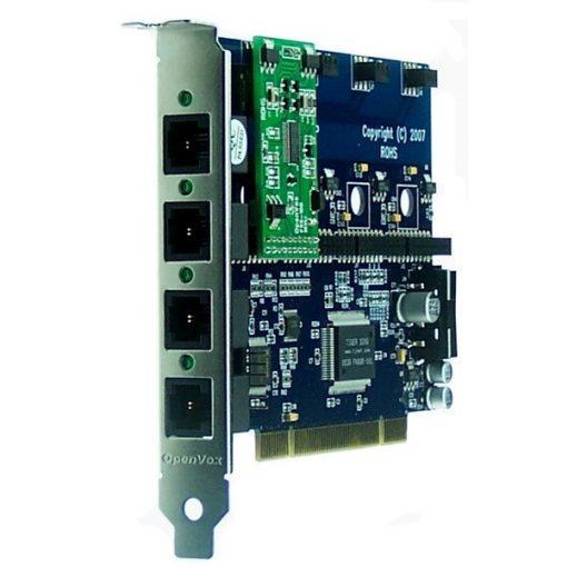 4 Port Analog PCI card + 1 FXS module