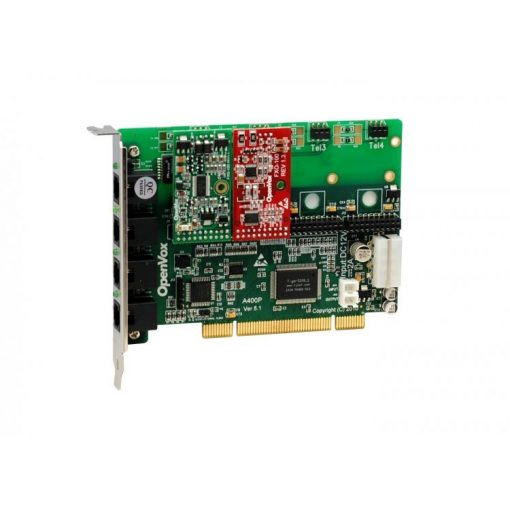 4 Port Analog PCI card + 1 FXS + 1 FXO modules