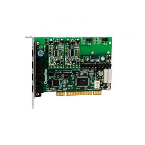 4 Port Analog PCI card + 2 FXS modules