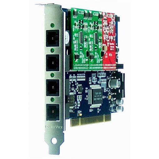 4 Port Analog PCI card+ 2 FXS + 1 FXO modules