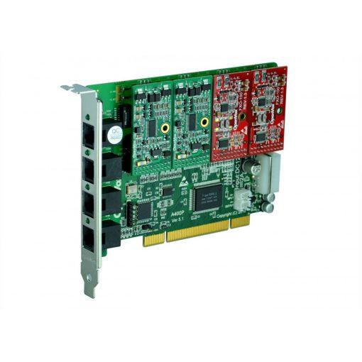 4 Port Analog PCI card + 2 FXS + 2 FXO modules