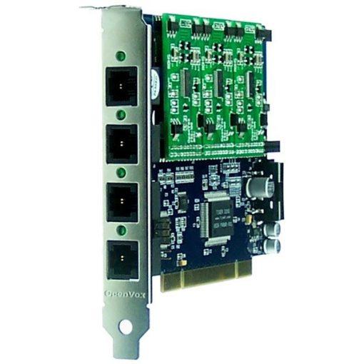 4 Port Analog PCI card + 3 FXS modules