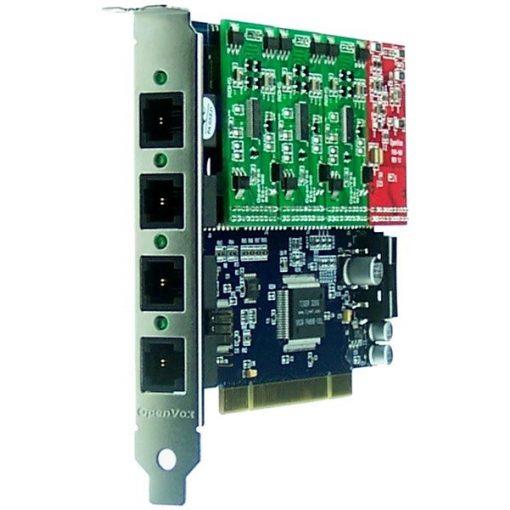 4 Port Analog PCI card + 3 FXS + 1 FXO modules