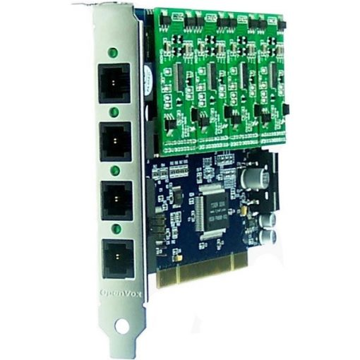 4 Port Analog PCI card + 4 FXS modules