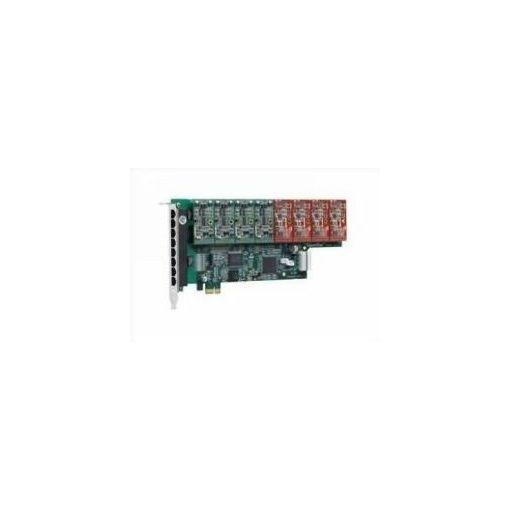 8 Port Analog PCI-E card + 1 FXO module