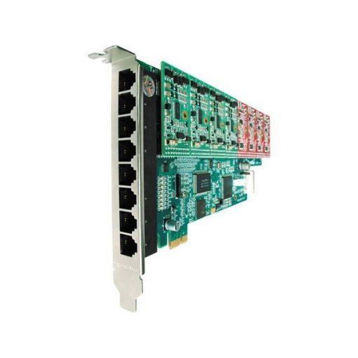8 Port Analog PCI-E card + 8 FXO modules