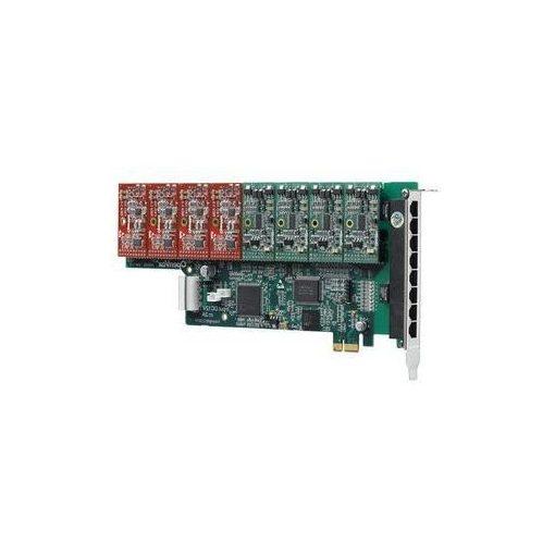 8 Port Analog PCI-E card + 1 FXS module