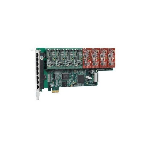 8 Port Analog PCI-E card + 4 FXS + 4 FXO modules