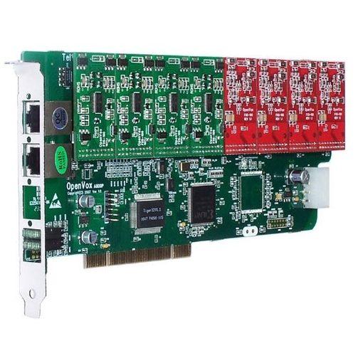 8 Port Analog PCI card + 1 FXO module