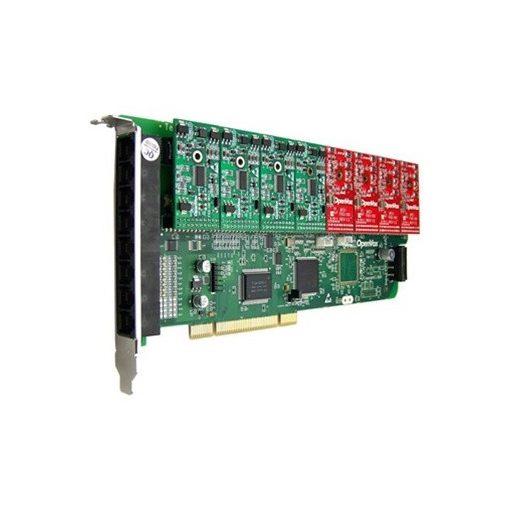 8 Port Analog PCI card + 8 FXO modules