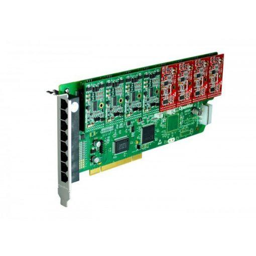 8 Port Analog PCI card + 4 FXS + 4 FXO modules