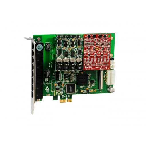 8 Port Analog PCI-E card with 1 FXS400 and 1 FXO400, failover function