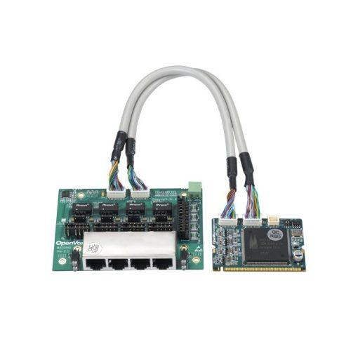 4 Port  ISDN BRI Mini-PCI card