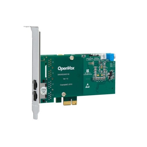 2 Port T1/E1/J1 PRI PCI-E  card (Advanced Version, Low Profile)
