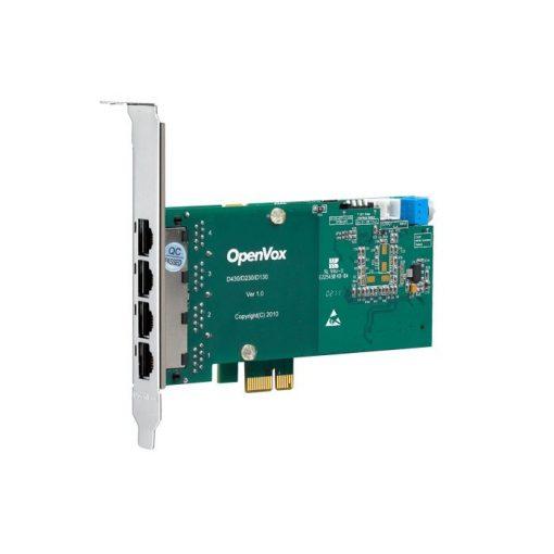 4 Port T1/E1/J1 PRI PCI-E card (Advanced Version, Low Profile)