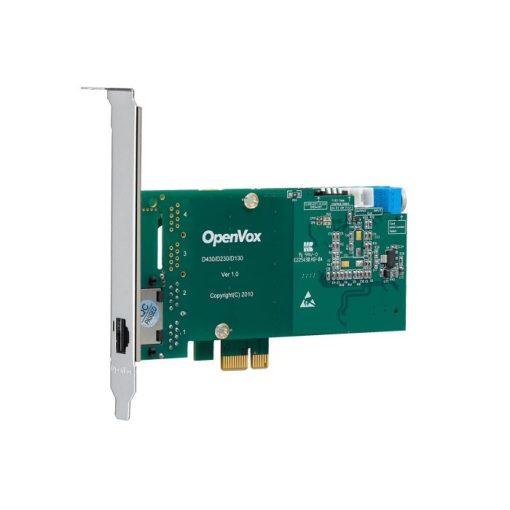 1 Port T1/E1/J1 PRI PCI-E card with EC2032 module (Advanced Version, Low Profile)