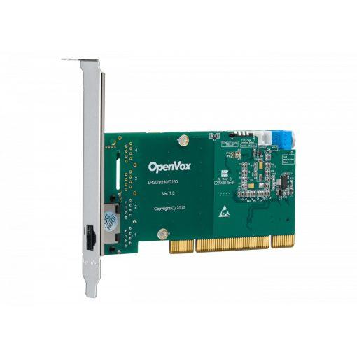 1 Port T1/E1/J1 PRI PCI card with EC2032 module (Advanced Version, Low Profile)