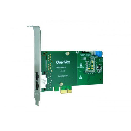 2 Port T1/E1/J1 PRI PCI-E  card + EC2064 module (Advanced Version, Low Profile)