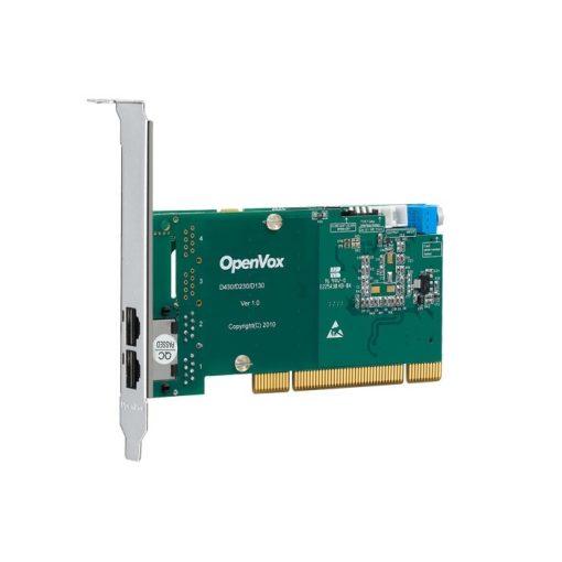 2 Port T1/E1/J1 PRI PCI card + EC2064 module (Advanced Version, Low Profile)