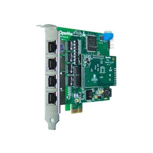 4 Port T1/E1/J1 PRI PCI-E card + EC100-128 module