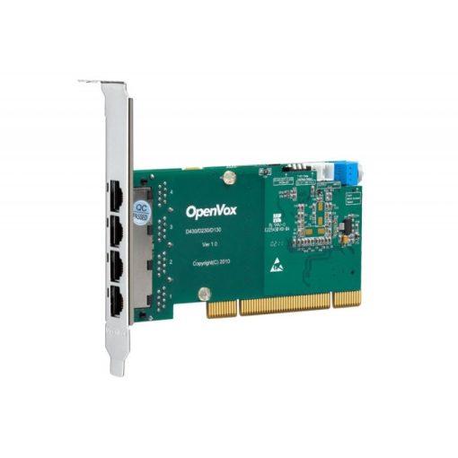 4 Port T1/E1/J1 PRI PCI card + EC2128 module (Advanced Version, Low Profile)