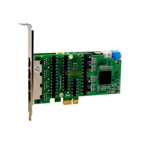 8 Port T1/E1/J1 PRI PCI-E card + EC2256 module (Advanced Version, Low Profile)                 NEW!