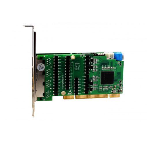 8 Port T1/E1/J1 PRI PCI card + EC2256 module (Advanced Version, Low Profile)                     NEW!