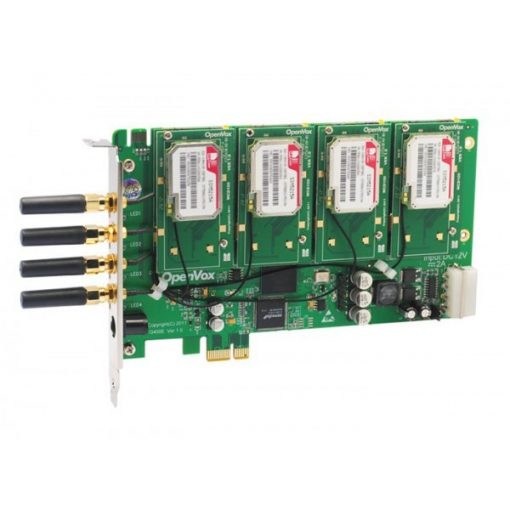 4 Port GSM/WCDMA PCI-E card + 4 WCDMA modules
