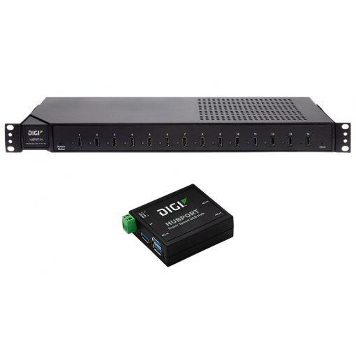 "Digi Hubport/14 14 port USB 2.0 hub 19"" rack (includes 1 US IEC power cord)"