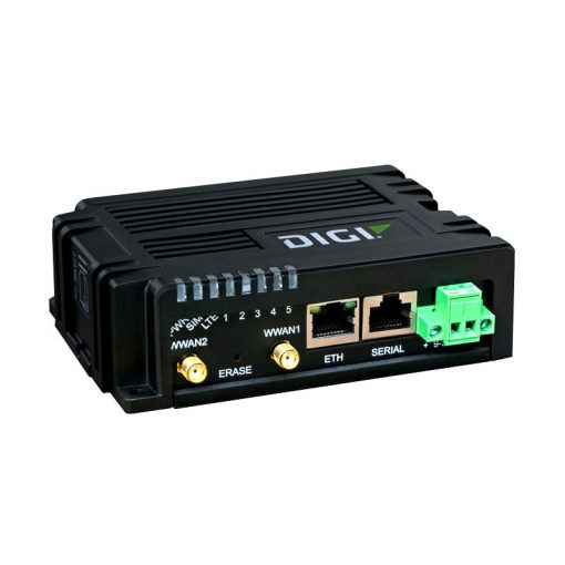 Digi IX10 - LTE, CAT-4, 3G/2G fallback, Single Ethernet, RS-232/485, no accessories